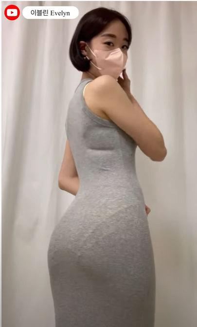 이블린 은꼴 엉덩이 뒤태 섹시한 미시룩 레게노